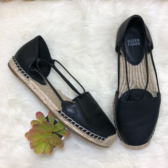 47f543577a5 Eileen Fisher Shoes - Eileen Fisher Lee Espadrille Leather Flats